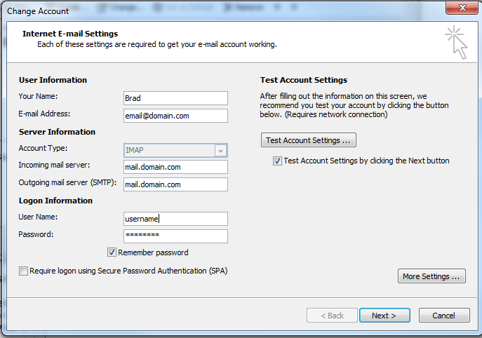 Configure Exchange Server to allow Pop3 and IMAP users to